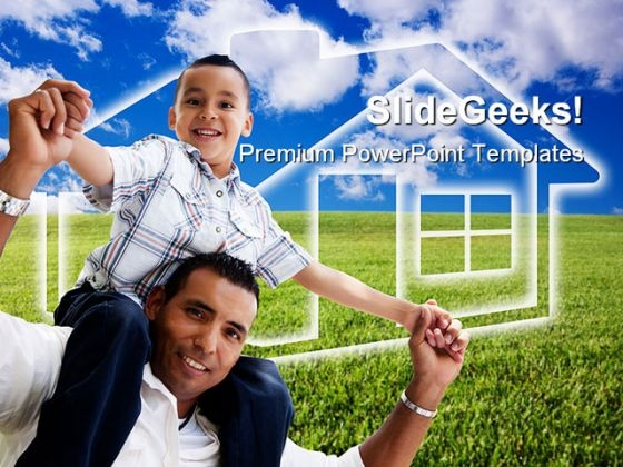 Father And Son Family PowerPoint Themes And PowerPoint Slides 0411