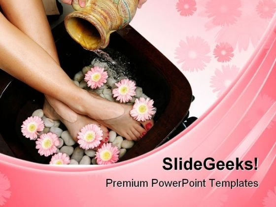 Feet Spa Beauty PowerPoint Templates And PowerPoint Backgrounds 0311