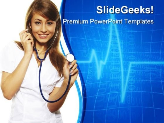 Female Doctor Medical PowerPoint Themes And PowerPoint Slides 0511