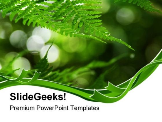 Fern Frond Frame Nature PowerPoint Themes And PowerPoint Slides 0511