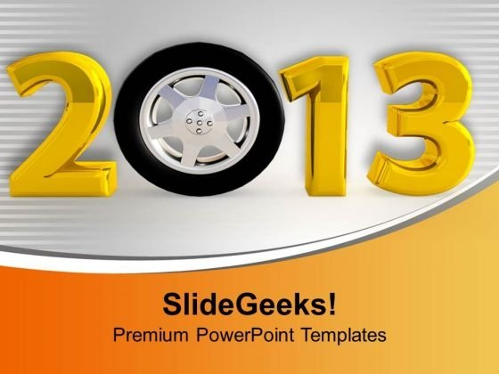 Figures Of Coming New Year 2013 PowerPoint Templates Ppt Backgrounds For Slides 0113