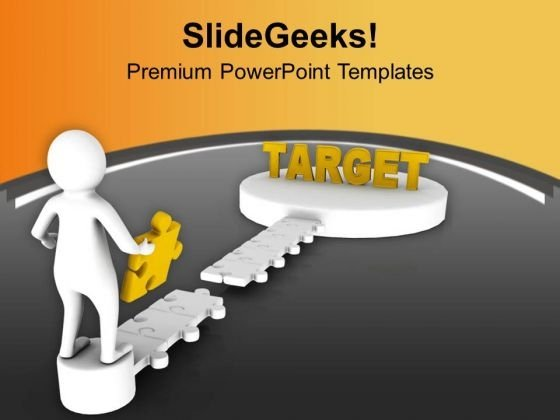 Fill The Gap Of Target Achievement Bridge PowerPoint Templates Ppt Backgrounds For Slides 0713