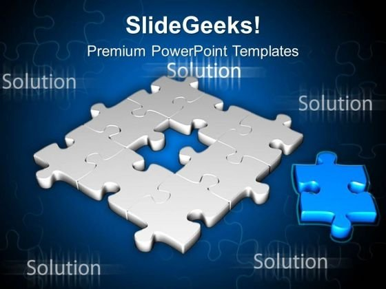 Fill The Puzzle With Right Part PowerPoint Templates Ppt Backgrounds For Slides 0613