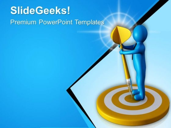 Finally Reached Completed The Target PowerPoint Templates Ppt Backgrounds For Slides 0713