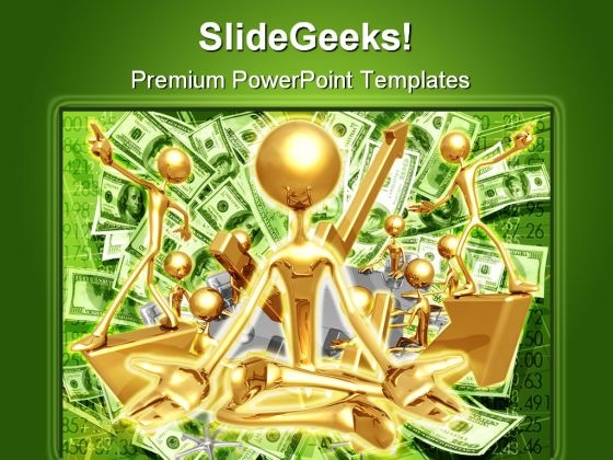 Financial Enlightened Money PowerPoint Templates And PowerPoint Backgrounds 0611