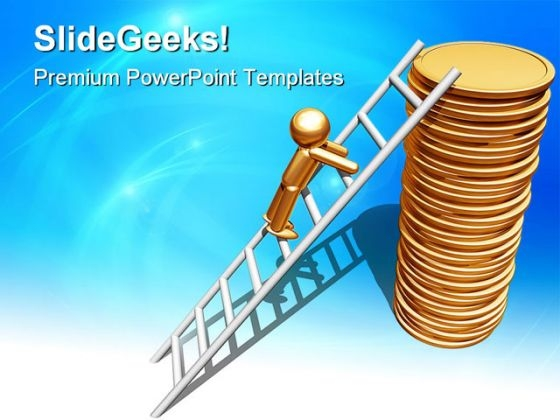 Financial Ladder Success PowerPoint Templates And PowerPoint Backgrounds 0911