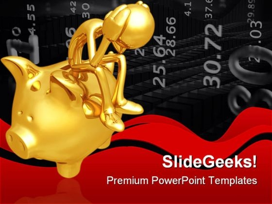 Financial Problem Business PowerPoint Themes And PowerPoint Slides 0511