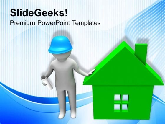 Find A Good Builder To Construct Your House PowerPoint Templates Ppt Backgrounds For Slides 0713
