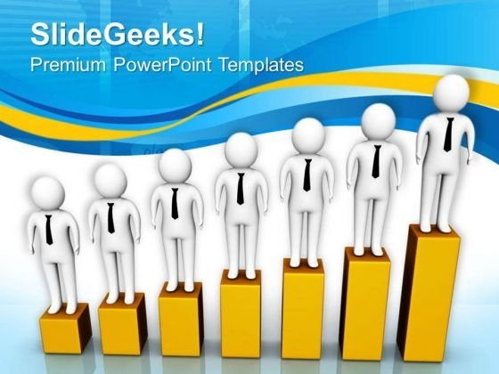 Find Gradual Growth For Business PowerPoint Templates Ppt Backgrounds For Slides 0813