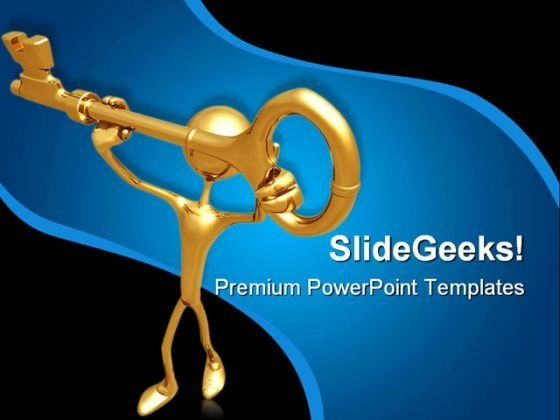 Find Key To Solution Business PowerPoint Templates And PowerPoint Backgrounds 0611