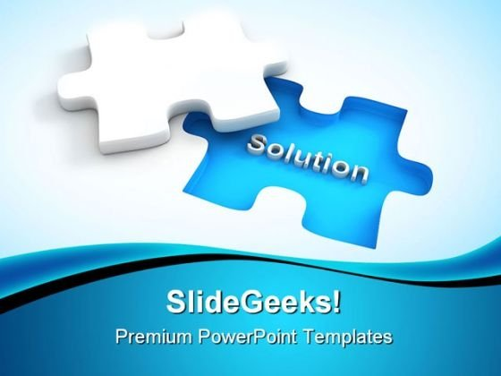Find Solution Puzzle Business PowerPoint Templates And PowerPoint Backgrounds 0411