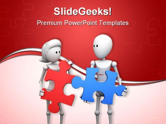 Find Solution Puzzle Teamwork PowerPoint Themes And PowerPoint Slides 0411