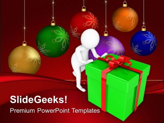 Find Some Good Gifts For Christmas PowerPoint Templates Ppt Backgrounds For Slides 0713