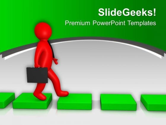 Find Success Path And Follow It PowerPoint Templates Ppt Backgrounds For Slides 0713