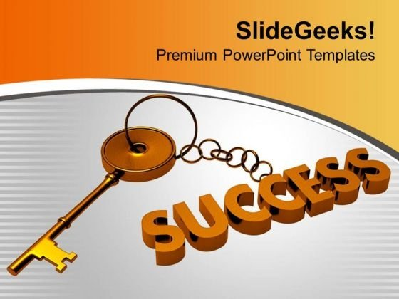 Find The Key Chain Of Success PowerPoint Templates Ppt Backgrounds For Slides 0413