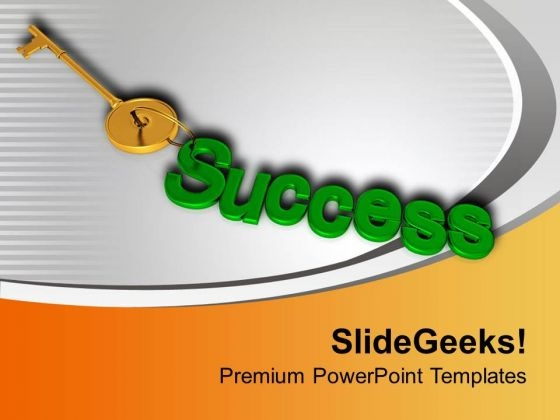 Find The Right Key For Success PowerPoint Templates Ppt Backgrounds For Slides 0513