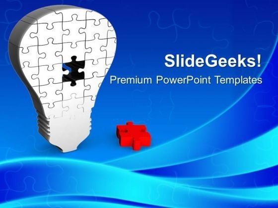 Find The Right Part Of Idea PowerPoint Templates Ppt Backgrounds For Slides 0613