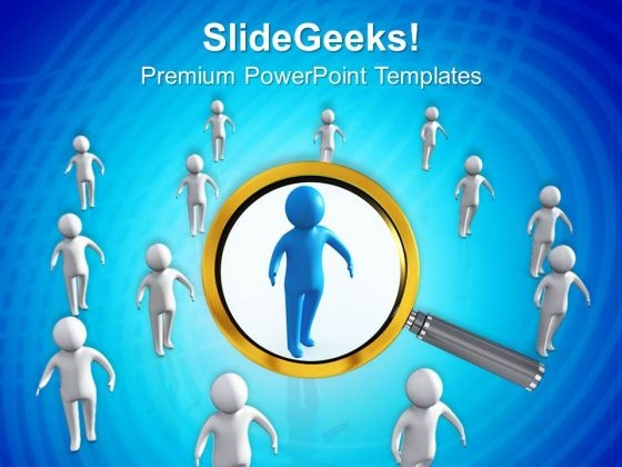 Find The Right Person PowerPoint Templates Ppt Backgrounds For Slides 0413