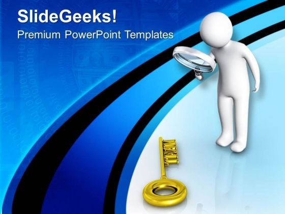 Find The Successful Key For Team PowerPoint Templates Ppt Backgrounds For Slides 0713