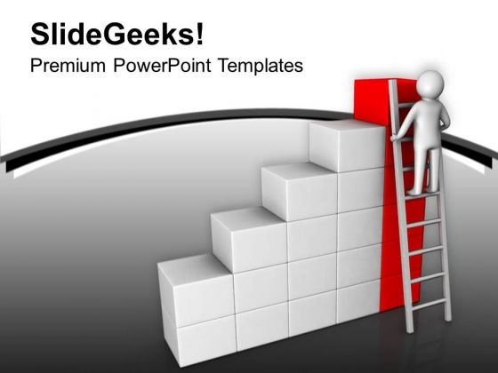 Find The Top Level In Business With Right Way PowerPoint Templates Ppt Backgrounds For Slides 0713