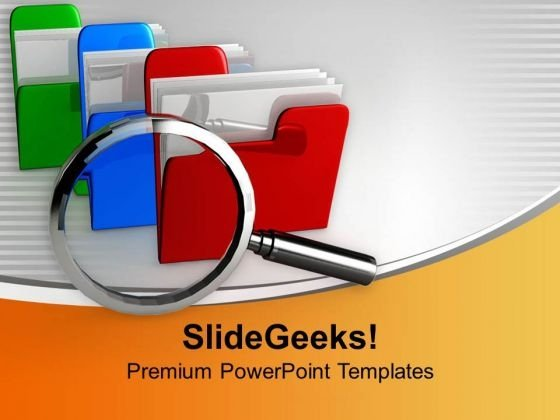 Find Your Data In Database PowerPoint Templates Ppt Backgrounds For Slides 0713