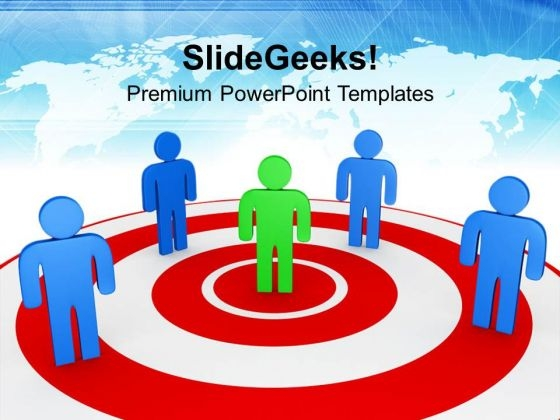 Find Your Own Place With Bulls Eye PowerPoint Templates Ppt Backgrounds For Slides 0713