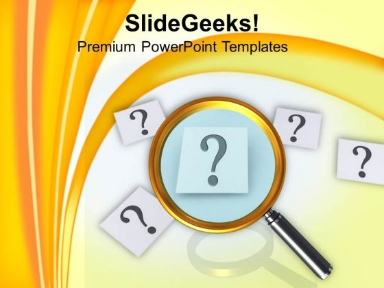 Finding Answer To Question Magnifying PowerPoint Templates Ppt Backgrounds For Slides 0413