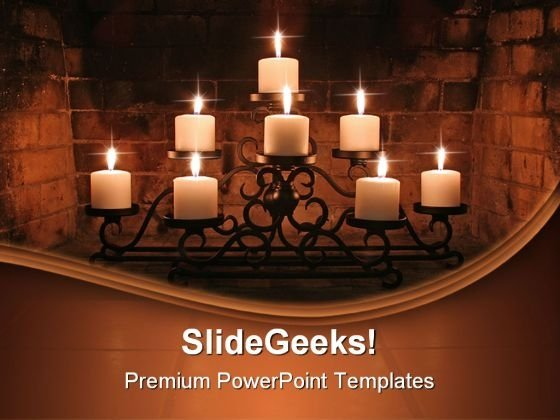 Fireplace Candles Beauty PowerPoint Templates And PowerPoint Backgrounds 0611