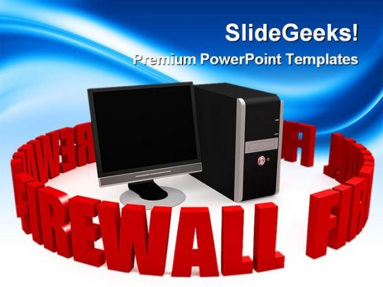 Firewall With Black Screen Computer PowerPoint Themes And PowerPoint Slides 0311