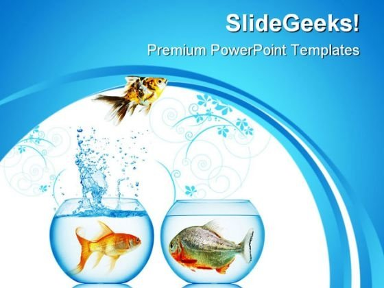 Fish Runs Away Animals PowerPoint Themes And PowerPoint Slides 0311