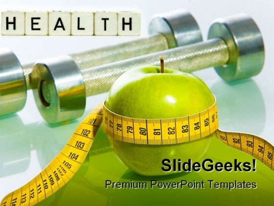 Fitness Health PowerPoint Template 0610
