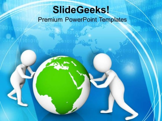 Fix The Global Issues With Team Efforts PowerPoint Templates Ppt Backgrounds For Slides 0713