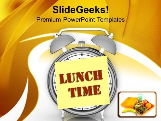 Fix The Lunch Time For Employee PowerPoint Templates Ppt Backgrounds For Slides 0513
