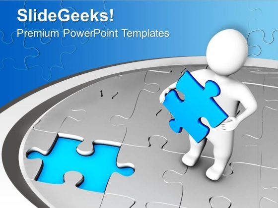 Fix The Problem With Right Solution PowerPoint Templates Ppt Backgrounds For Slides 0613