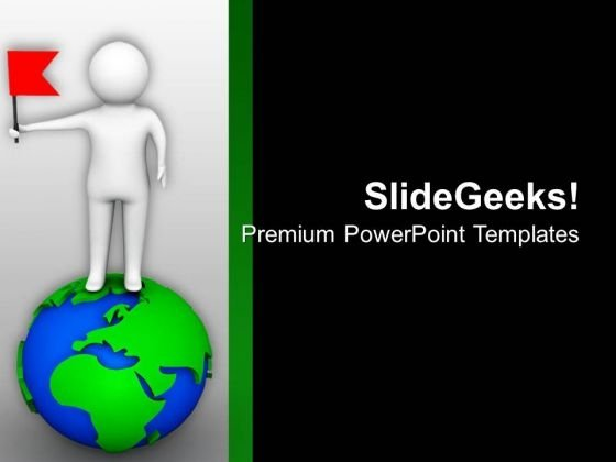 Fix Your Business Flag All Over The World PowerPoint Templates Ppt Backgrounds For Slides 0713