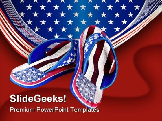 Flip Flop Americana PowerPoint Templates And PowerPoint Backgrounds 0111