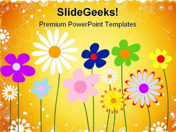 Floral Background Abstract Powerpoint Templates And Powerpoint