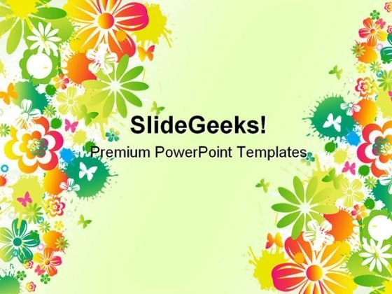 floral background design powerpoint templates and powerpoint, Modern powerpoint