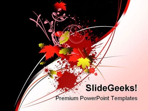 Floral Background PowerPoint Themes And PowerPoint Slides 0711