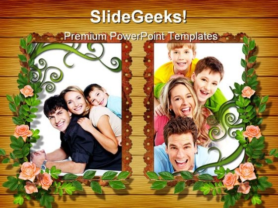 Floral Frame Family PowerPoint Themes And PowerPoint Slides 0311