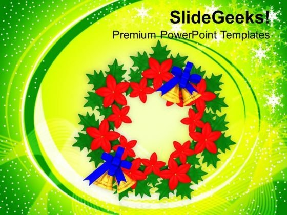 Floral Wreath Events Holidays PowerPoint Templates Ppt Backgrounds For Slides 1212