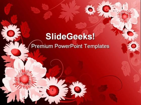 Flower Abstract PowerPoint Templates And PowerPoint Backgrounds 0311