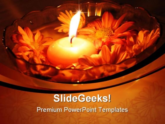 Flower Candle Festival PowerPoint Template 1110
