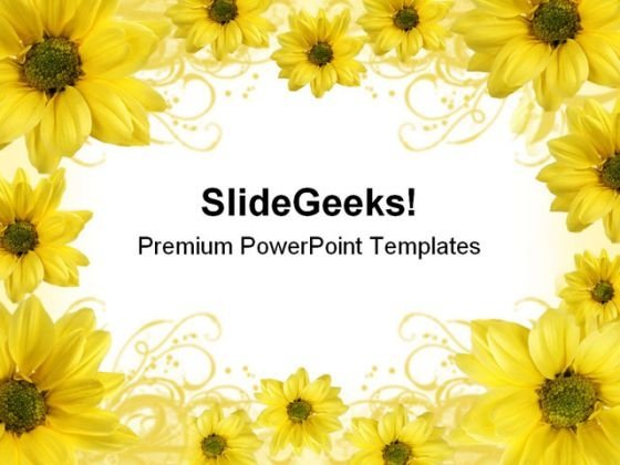 Flowers Background Nature PowerPoint Templates And