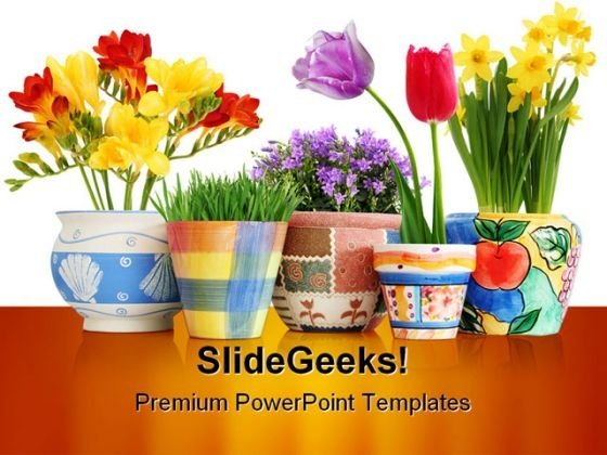 Flowers Beauty PowerPoint Template 0810