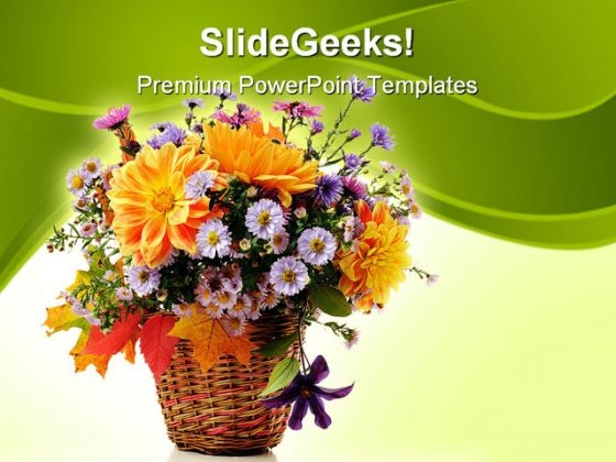 Flowers Bouquet Beauty PowerPoint Themes And PowerPoint Slides 0411
