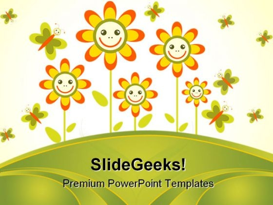 Flowers Frame Beauty PowerPoint Themes And PowerPoint Slides 0511