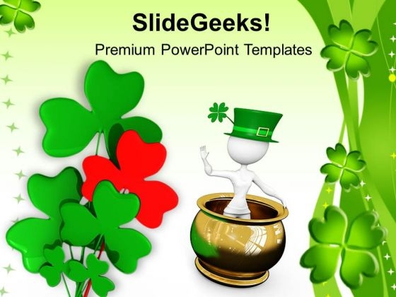 Flowers Green Leaves Background PowerPoint Templates Ppt Backgrounds For Slides 0813