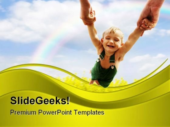 Flying Baby Nature PowerPoint Themes And PowerPoint Slides 0611