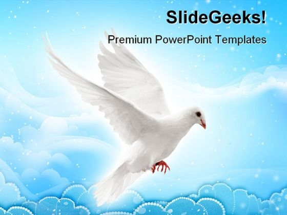 Flying Pigeon Animals PowerPoint Themes And PowerPoint Slides 0511